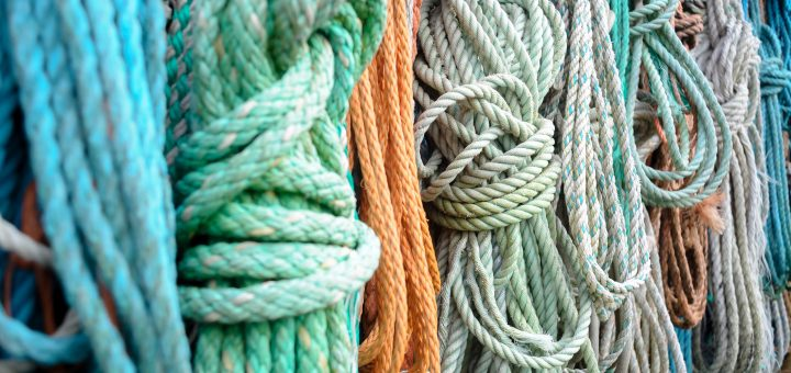 Cleaning Ropes - Colorful Mooring Ropes